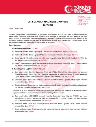 2014 olağan mali genel kurulu duyuru
