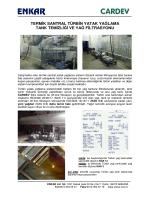 termik santral türbin yatak yağlama tank temizliği ve