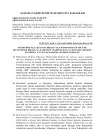 22.05.2014 tarihli eğitim komisyonu kararları