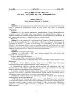 Ön Mali Kontrol İşlemleri Yönergesi