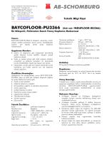 BAYCOFLOOR-PU3366 (Eski adı: INDUFLOOR - ab