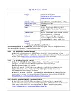 Öğr. Gör. Dr. Zeynep UĞURLU İletişim (0368) 271-55