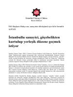 İstanbullu sanayici, göçebelikten kurtulup yerleşik düzene geçmek