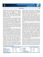 Haftalık Ekonomi ve Finans Bülteni 1 Eylül 2014