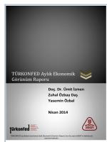TURKONFED Aylik Ekonomik Gorunum Raporu Nisan