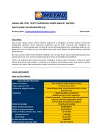 Mutlucan Tuz Fiyat Tespit raporuna İlişkin analist raporu