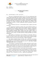 Konu : Görüş Talebi - Çevre ve Şehircilik Bakanlığı