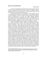 MEZUN PENCERESİNDEN - Uluslararası İlişkiler Öğrenci Dergisi