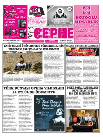 22.09.2014 Tarihli Cephe Gazetesi