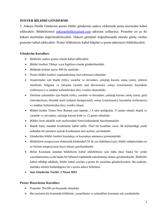 5. ankara ebelik günleri poster bildiri gönderme
