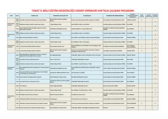 02-08 Şubat 2015 - Tokat Milli Eğitim Müdürlüğü