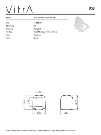 87-003-001 Ağırlık (kg)