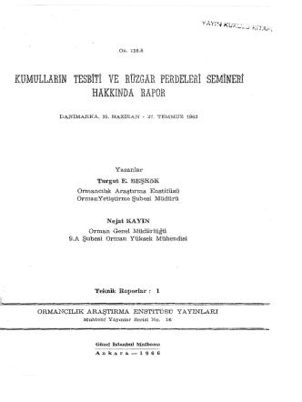 016 - Doğu Karadeniz Ormancılık Araştırma Enstitüsü Müdürlüğü