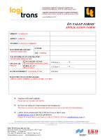 logitrans 2015 Ön Talep Formu