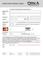 Kredi Kartı Ödeme Formu