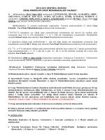 2014-2015 HENTBOL SEZONU GENÇ ERKEKLER GRUP