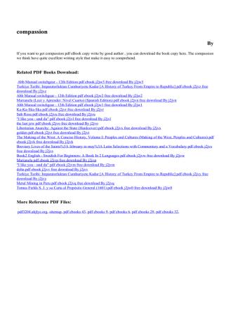 compassion pdf ebook j2jvj free By j2jvj