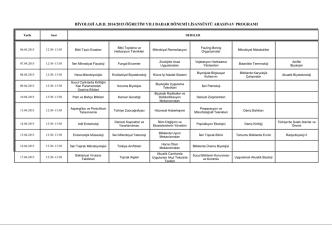 2014/2015 ogretım yılı bahar donemı lısansustu arasınav programı