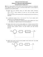 Otomatik Konrol - Problem Set - Süleyman Demirel Üniversitesi