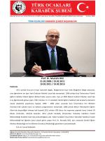 Başkanlarımız - Türk Ocakları Karabük Şubesi