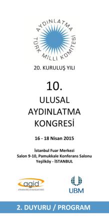 10. ulusal aydınlatma kongresi programı için tıklayınız