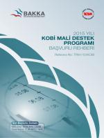 2015 Yılı KOBİ Mali Destek Programı Başvuru Rehberi