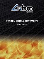 RBM Yerden Isıtma Sistemleri Teknik Klavuzu için tıklayınız