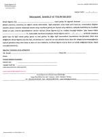 Zıraat Sıgorta A.Ş. Form No: H000073