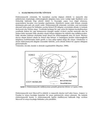 1. ELEKTROMANY Elektromanyetik , bir ka ak a  a ıla ğiş elektrik ve