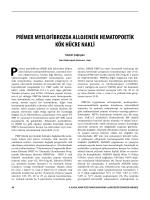 primer myelofibrozda allojeneik hematopoetik kök hücre nakli