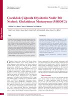 MODY2 - Türkiye Aile Hekimliği Dergisi
