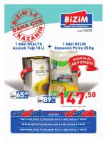 1 Adet DOALYA Ayçiçek Yağı 18 Lt + Osmancık Pirinç 25 Kg