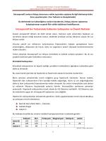 İntraoperatif Sıvılar ve Genel Özellikleri