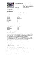 Ford Taunus GT 2.500 TL İlan detayları