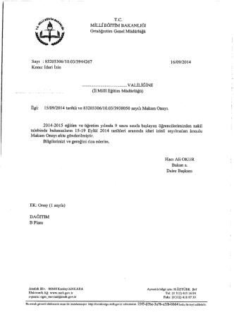 *inan rc. . gt., *vr _ , -. . t - Alaşehir İlçe Milli Eğitim Müdürlüğü