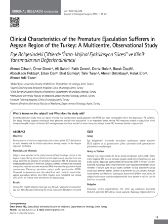 Clinical Characteristics of the Premature Ejaculation Sufferers in