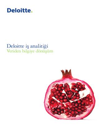 Deloitte iş analitiği