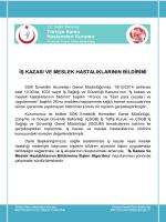 İŞ KAZASI VE MESLEK HASTALIKLARININ BİLDİRİMİ