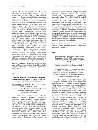 619 değişimi (KKD) ve mikronükleus (MN) test yöntemleri