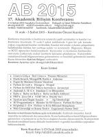 17. Akademik Bilişim Konferansı