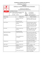 Akreditasyon Sertifikası Eki (Sayfa 1/8) Akreditasyon Kapsamı