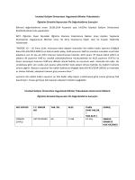 UBYO Ön Değerlendirme Sonuçları