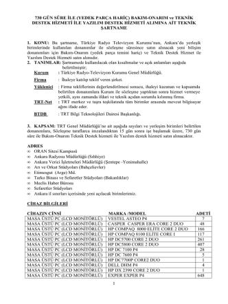 2013-191927 teknik destek bakım onarım hizmeti teknık