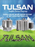 TULSAN Mobil Sağım Sistemi ve Süt Soğutma Tankları Broşürü