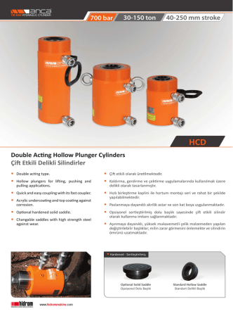 0-10 ton /40-250 mm stroke/