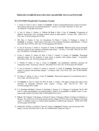 2013-2014 Akademik Yılı Faaliyetleri