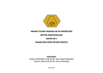 ankara`nın aspir bitkisi profili - mart 2014