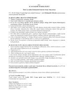T.C. ICAO DAİMİ TEMSİLCİLİĞİ Türk Uyruklu Sözleşmeli Sekreter