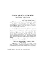 15. yüzyıl türk mevlit edebiyatında atasözleri ve deyimler
