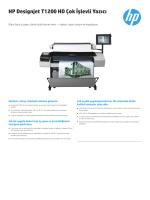 HP Designjet T1200 HD Çok İşlevli Yazıcı